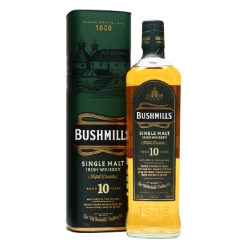 Bushmills 10 Years Old  Irish Single Malt Whiskey